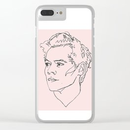 Harry Styles Drawing Clear iPhone Case