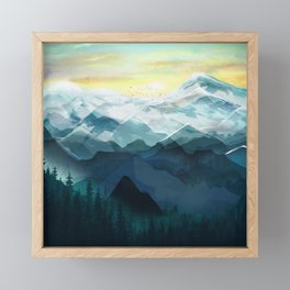 Mountain Range Framed Mini Art Print