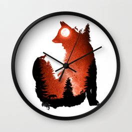 In the Swaying Forest Trees Wall Clock