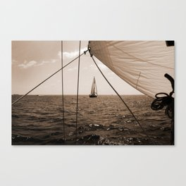 Framed in Our Lines Canvas Print