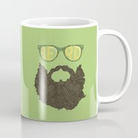 beard Mugs featuring Beard by Pedro Barbosa