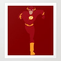 flash Art Prints featuring Flash by karla estrada