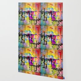 Colorful abstract digital art by d medich Wallpaper