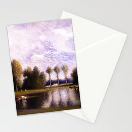 Trois Pignons and Fontainebleau Forest, Paris, France landscape by Gilbert Munger Stationery Cards