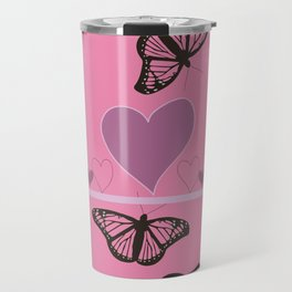 Hearts and Butteflies Travel Mug