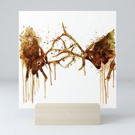 Elks Fight Mini Art Print