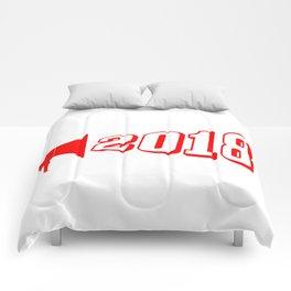 Red 2018 Megaphone Comforters
