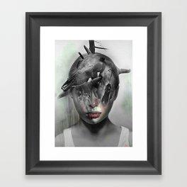 Waiting for Halloween Framed Art Print