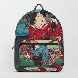 Toyohara Kunichika - The Tale of Genji (1868) Backpack