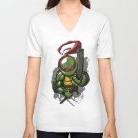 teenage mutant ninja turtles V-neck T-shirts featuring Teenage Mutant Ninja Turtles Donatello by Josh Rudloff