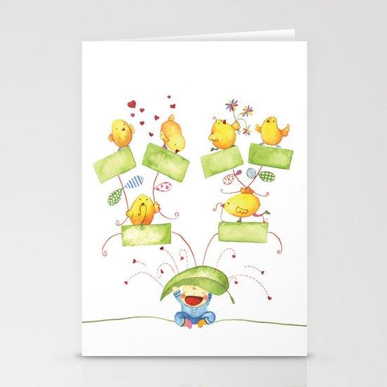 Baby family tree Stationery Cards