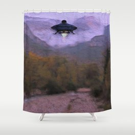 Close Encounter Shower Curtain