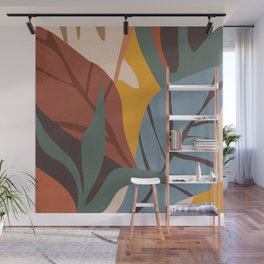 Abstract Art Jungle Wall Mural