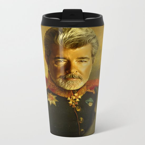 George Lucas - replaceface Metal Travel Mug