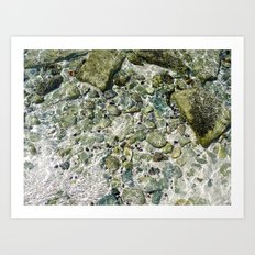 rockin' water Art Print