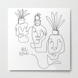 """Pot Heads"" Metal Print"