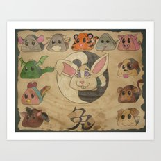 Onigiri Zodiac Art Print