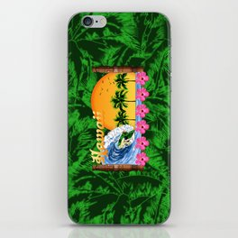 Hawaiian Surfing And Palm Trees iPhone Skin