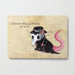 Plague Rat (With Text) Metal Print