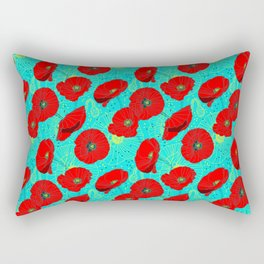 Flor de Amapola Rectangular Pillow