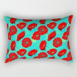 Flor de Amapola Rectangular Pillow