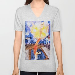Charles Demuth - Two Acrobats in Red Tights - Digital Remastered Edition Unisex V-Neck