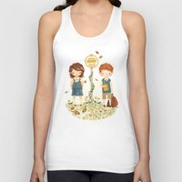 school Tank Tops featuring Back to School by Teagan White