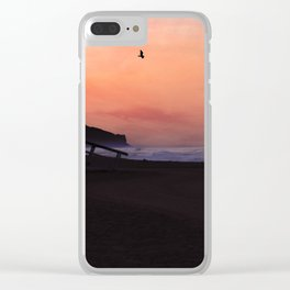 Peach Skies Clear iPhone Case