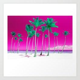 Pink Tropics Art Print