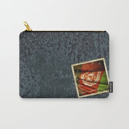 Grunge sticker of Afghanistan flag Carry-All Pouch
