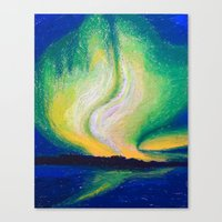 the lights Canvas Prints featuring Lights  by Shazia Ahmad