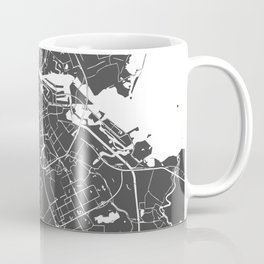 Amsterdam Gray on White Street Map Coffee Mug