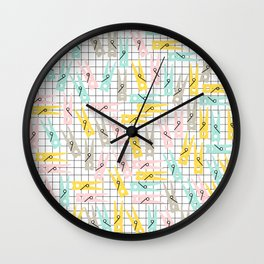 Clothes Peg Pattern Wall Clock