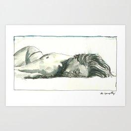 Laia Sleeps Art Print