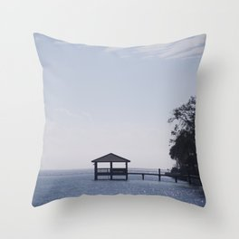 THE LONE DOCK Throw Pillow