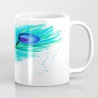 indigo Mugs featuring Indigo by N. Rogers Fine Art