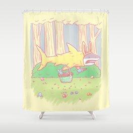 The Easter Bunny Shark Shower Curtain