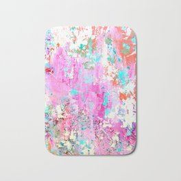 Pink Abstract with Coral Bath Mat
