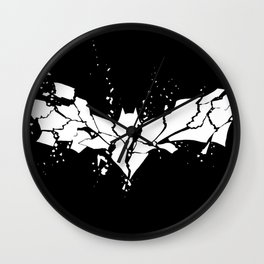 Before, he crumbles. Wall Clock
