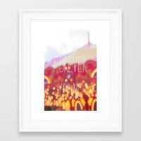 forever young Framed Art Prints featuring Forever Young by KrashDesignCo.