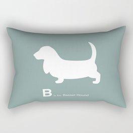 Basset Hound | Dogs series | Blue | Teal Rectangular Pillow
