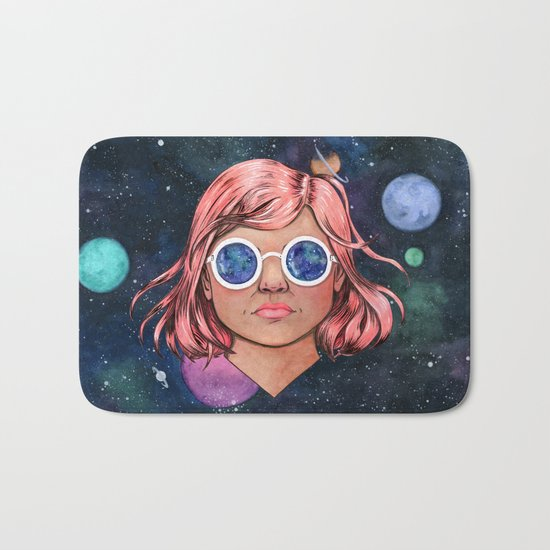 The Universe In Your Eyes Bath Mat