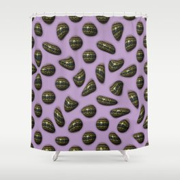Eclat - Decorated gemstones E of Alphabet collection Shower Curtain