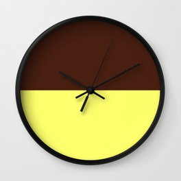 Choc Custard Wall Clock