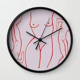 Madames Rouges Wall Clock
