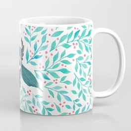 Magpie and Berry Branches Coffee Mug