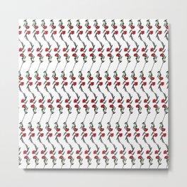 Pink Poppy Pattern Metal Print