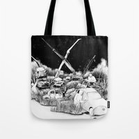 cars Tote Bags featuring Cars by Andreas Derebucha