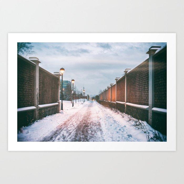 Lost in Winter Art Print