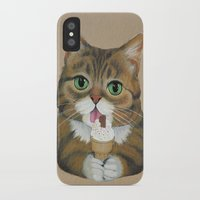 lil bub iPhone & iPod Cases featuring Lil Bub - famous cat by PaperTigress